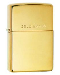 High Polished Brass Zippo Lighter with Solid Brass on lid 254