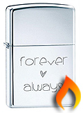 Love Themed Zippo Lighters