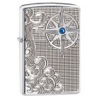 Luxury Waves Swarovski Armor Zippo Lighter 28809