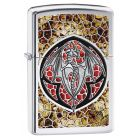 Anne Stokes Dragon Zippo Lighter in Polished Chrome 29253