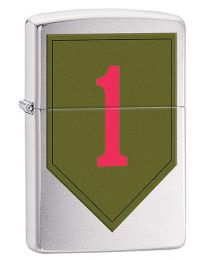 US Army 1st Infantry Zippo Lighter in Brushed Chrome 29182