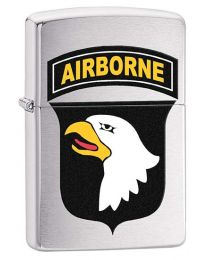 US Army 101st Airborne Zippo Lighter in Brushed Chrome 29185