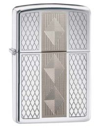Diamond Grill Zippo Lighter in Polished Chrome 29424