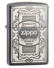 Zippo Quality Zippo Lighter in Black Ice 29425