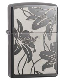 Zippo Lily Zippo Lighter in Black Ice 29426