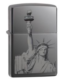 Statue of Liberty Zippo Lighter in Polished Ebony 29437