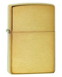 Brushed Brass Zippo Lighter inc Solid Brass Lettering 204