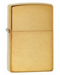 Plain Brushed Brass Zippo Lighter 204B