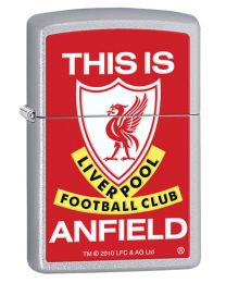 This Is Anfield Zippo Lighter in Satin Chrome 205ANFIELD