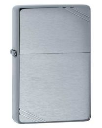 Vintage Brushed Chrome Zippo Lighter with Slashes 230