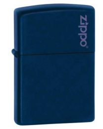 Matte Navy Blue Zippo Lighter with Logo 239ZL