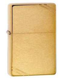 Vintage Brushed Brass Zippo Lighter 240
