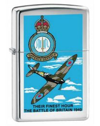 Battle of Britain Chrome Zippo Lighter 250BB