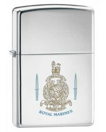 Royal Marines Chrome Zippo Lighter 250RM
