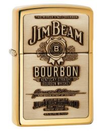 Jim Beam Polished Brass Emblem Zippo Lighter