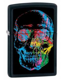 X-Ray Skull Zippo Lighter (Matte Black) 28042