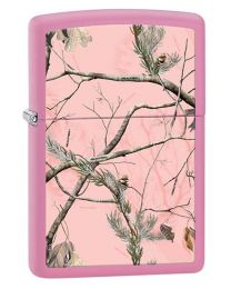 Realtree APC Camouflage Zippo Lighter in Matte Pink 28078