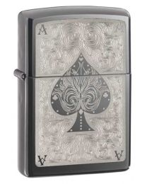 Ace Filigree Zippo Lighter (Black Ice) 28323