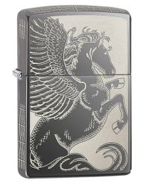 Pegasus Zippo Lighter in Black Ice 28802