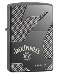 Jack Daniels Armor Zippo Lighter in Black Ice 28817