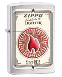 Zippo Trading Cards Zippo Lighter in Brushed Chrome 28831