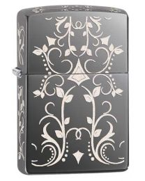 Filigree Zippo Lighter in Black Ice 28833