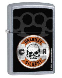 Brantley Gilbert Skull Zippo Lighter in Street Chrome 28995