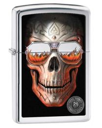 Anne Stokes Coll 6 Zippo Lighter in Polished Chrome 29108