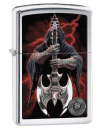 Anne Stokes Coll 7 Zippo Lighter in Polished Chrome 29109