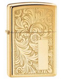 Venetian High Polished Brass Zippo Lighter 352B