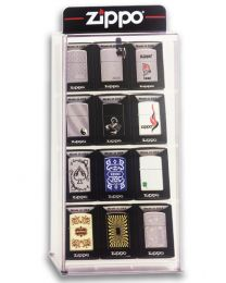 Collectors 12 Piece Zippo Lighter Selection and Display Case