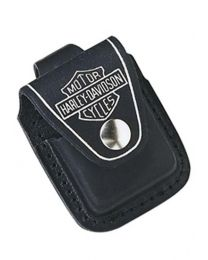 Harley Davidson Black Leather Pouch for Zippo Lighter