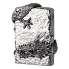 Wrap Around Chinese Dragon Zippo Lighter in Chrome 2005942