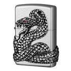 Snake Coil Zippo Lighter with Swarovski Eye in Chrome 2005963