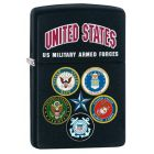 US Armed Forces Zippo lighter in Matte Black 28898
