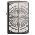 Compass Zippo Lighter in Black Ice 29232