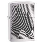 Zippo Illusion Flame Zippo Lighter in Brushed Chrome 29429