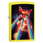 Pizza Cat Zippo Lighter in Neon Yellow 29614