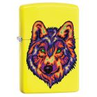 Neon Wolf Zippo Lighter in Neon Yellow 29639