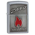 Zippo And Flame Zippo Lighter in Street Chrome 29650