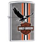 Harley Davidson Eagle Zippo Lighter in Polished Chrome 29656
