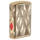 Gold Plated Armor Luxury Diamond Design Zippo Lighter 29671