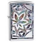 Fusion Leaf Zippo Lighter in Polished Chrome 29727
