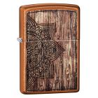 Wood Mandala Design Zippo Lighter in Toffee 29828