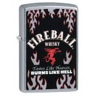 Fireball Whisky Zippo Lighter in Street Chrome 29833