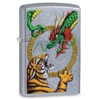 Chinese Dragon Design Zippo Lighter in Street Chrome 29837