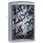 Diamond Plated Design Zippo Lighter in Street Chrome 29838