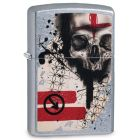 Trash Polka Tattoo Skull Zippo Lighter in Street Chrome 29856