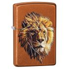 Polygonal Lion Design Zippo Lighter in Toffee 29865