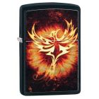 Phoenix Design 2 Zippo Lighter in Matte Black 29866